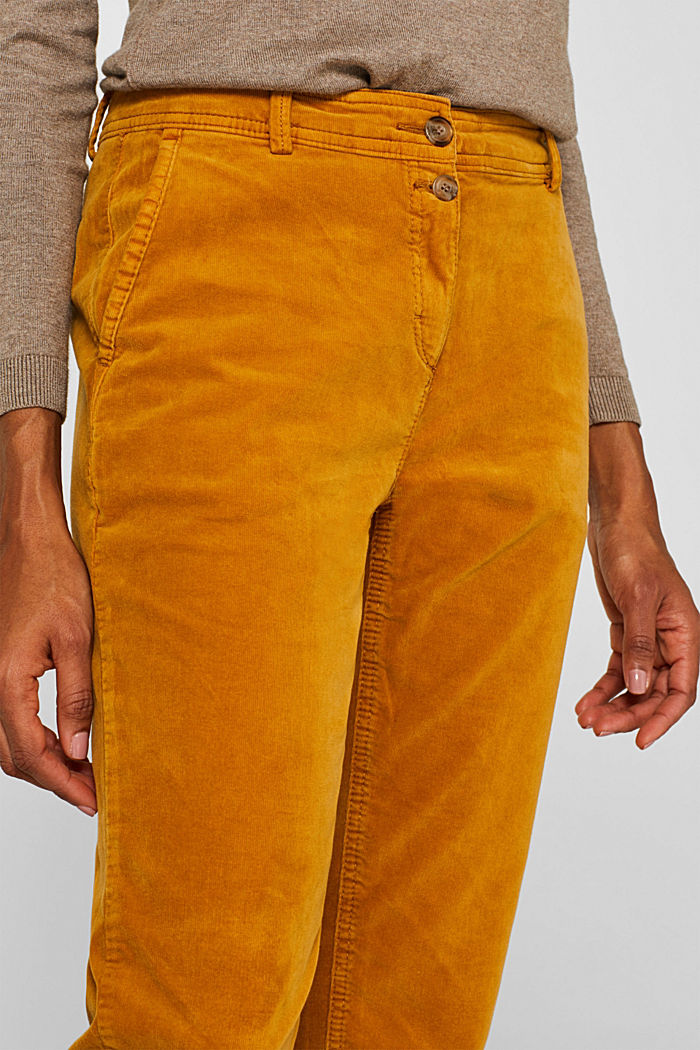Stretch cord chinos, AMBER YELLOW, detail image number 2