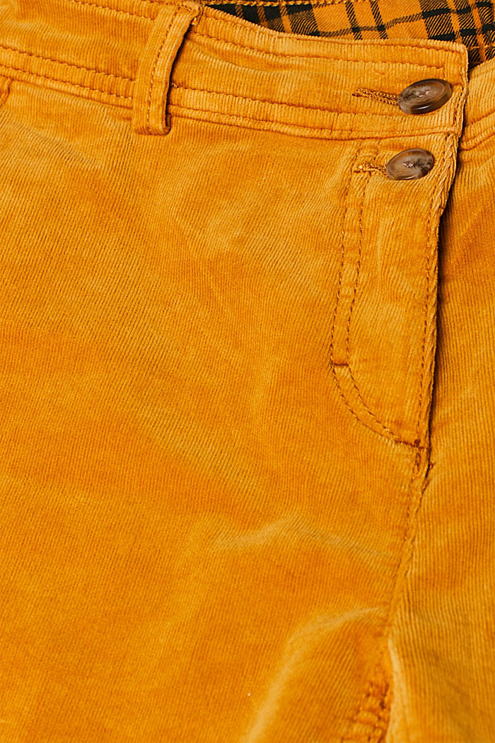 Stretch cord chinos, AMBER YELLOW, detail image number 4