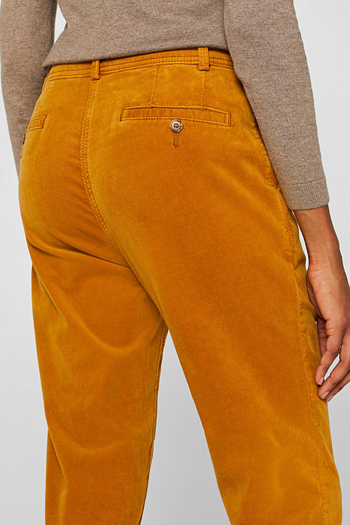 Stretch cord chinos, AMBER YELLOW, detail image number 5
