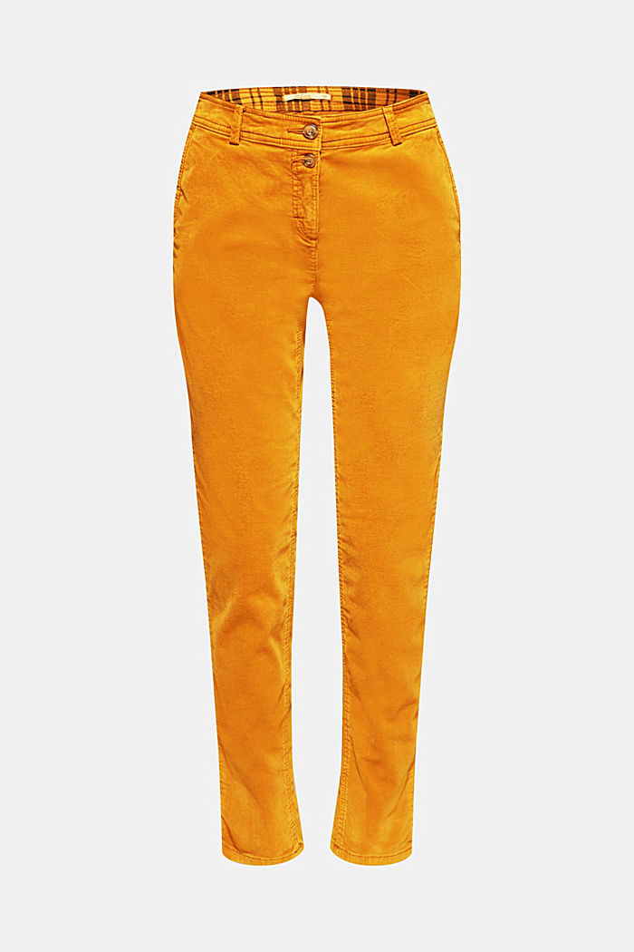 Stretch cord chinos, AMBER YELLOW, detail image number 7