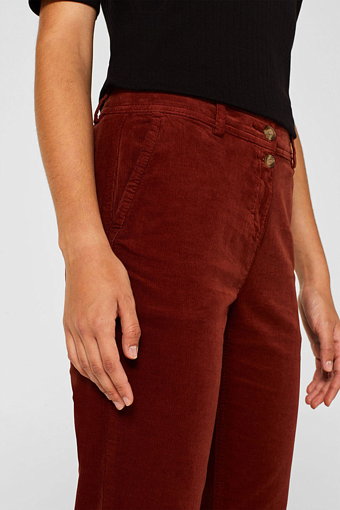 Stretch cord chinos, TERRACOTTA, detail image number 2