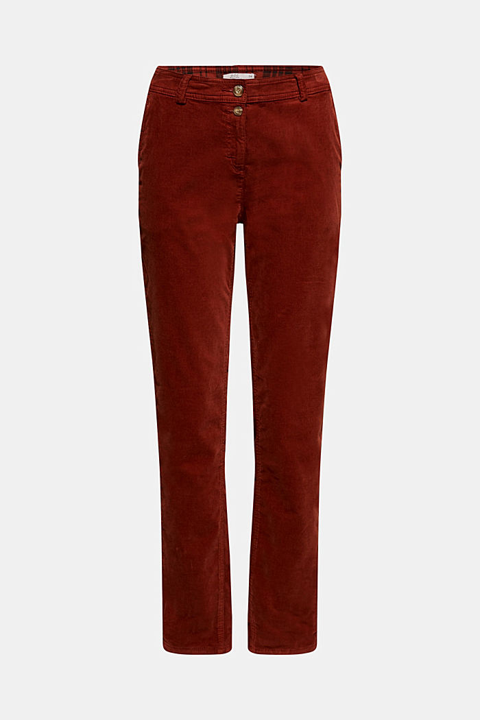 Stretch cord chinos, TERRACOTTA, detail image number 7
