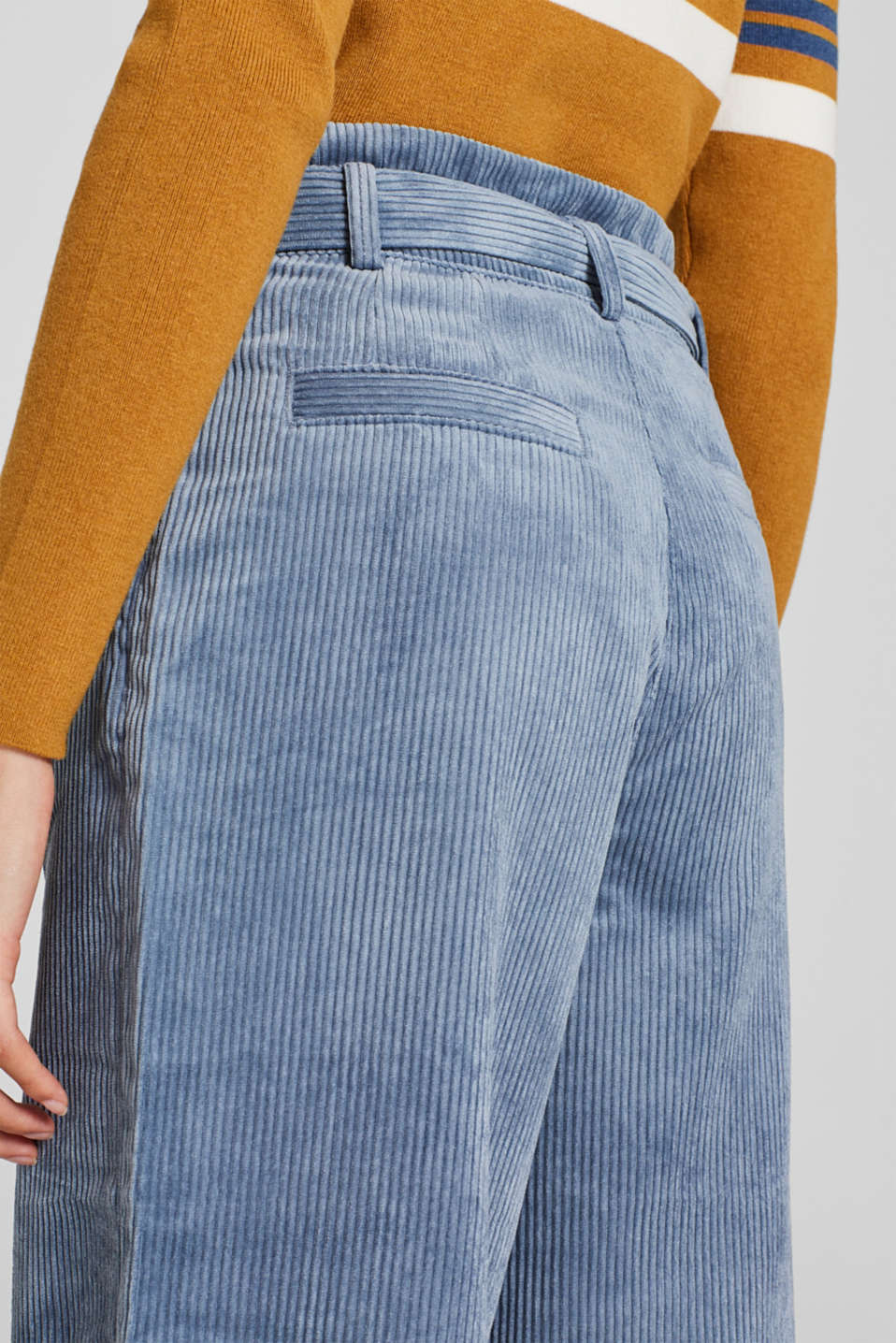 Pants woven, GREY BLUE, detail image number 6