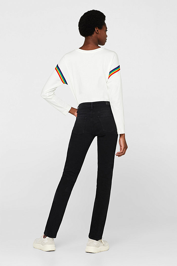 Stretch jeans with tuxedo stripes, BLACK RINSE, detail image number 3