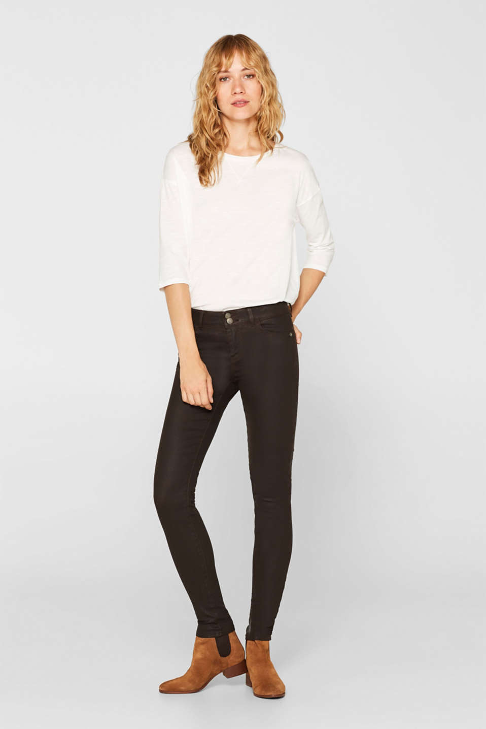 edc - Pantalon stretch enduit