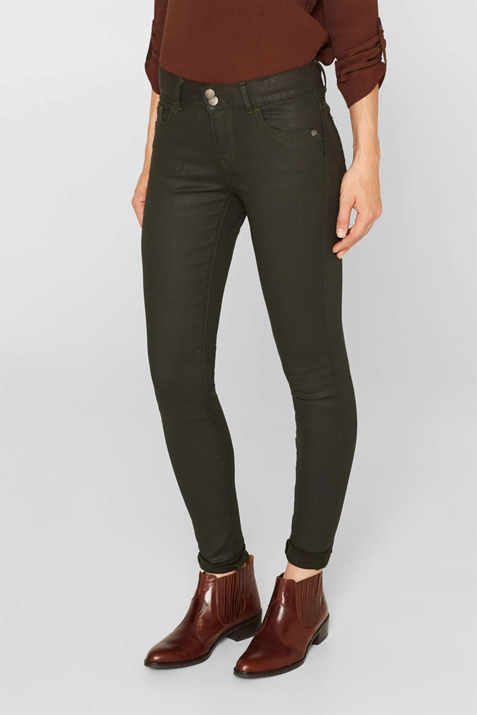 Pants woven, KHAKI GREEN, detail image number 6