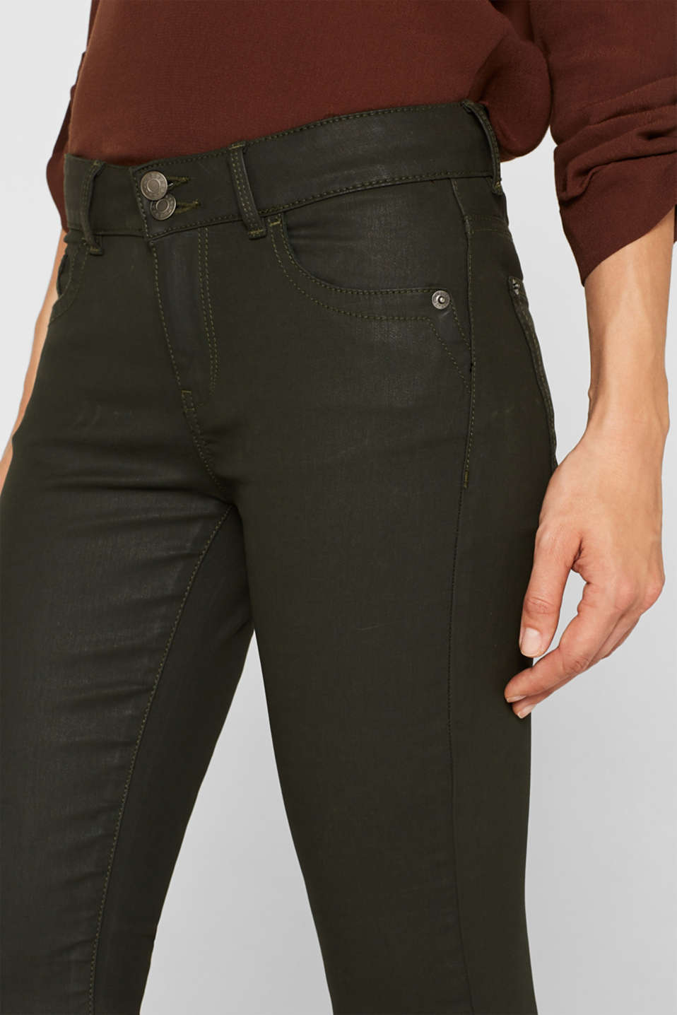 Pants woven, KHAKI GREEN, detail image number 2