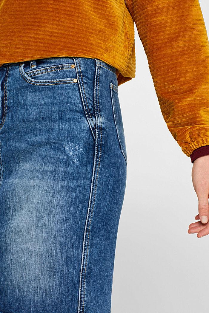 Stretch denim skirt in a vintage look, BLUE MEDIUM WASHED, detail image number 2