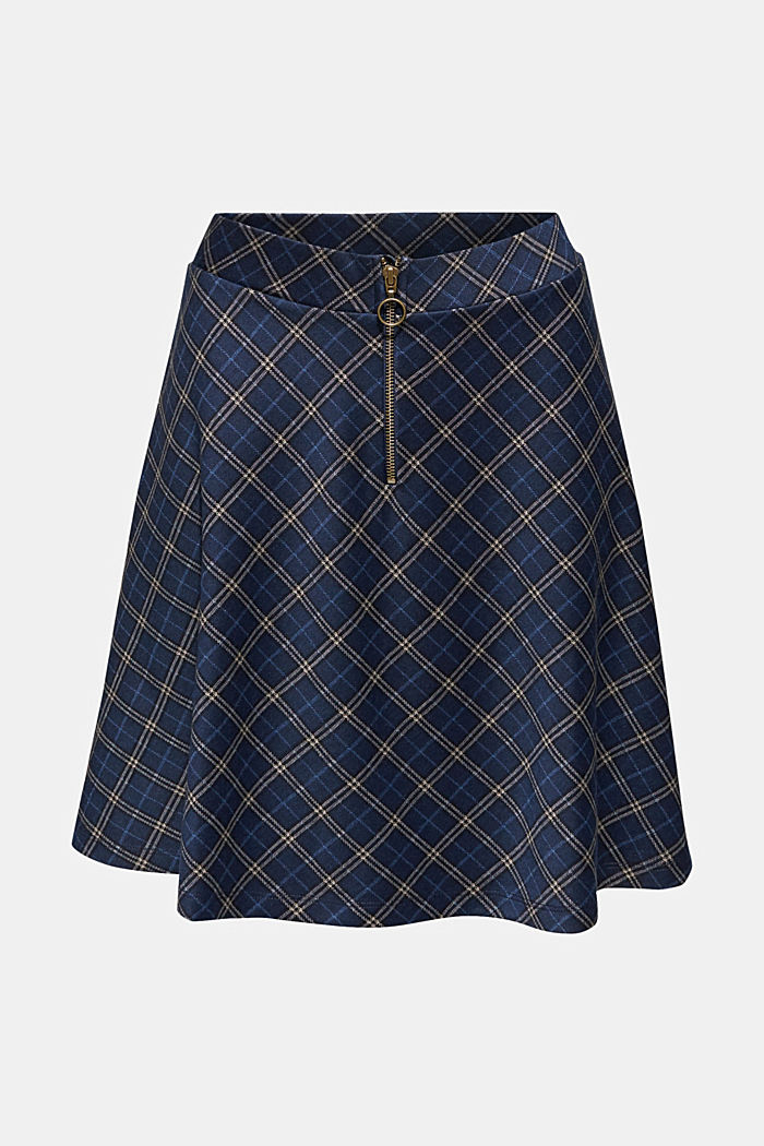 Swirling skirt with a zip, NAVY, detail image number 6
