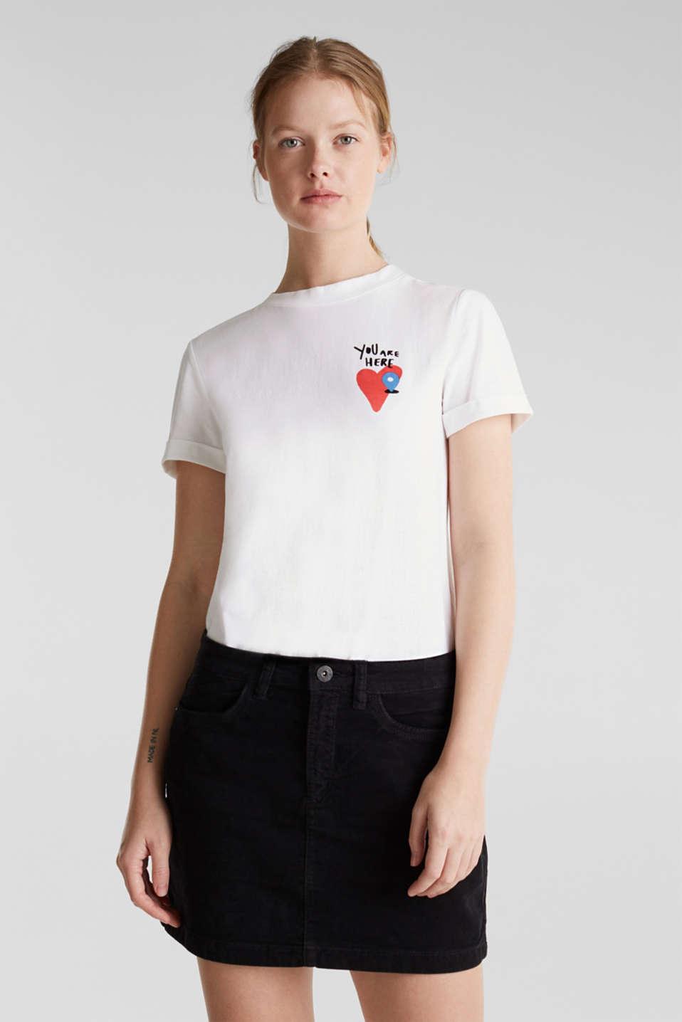 Stretch corduroy mini skirt, BLACK, detail image number 0