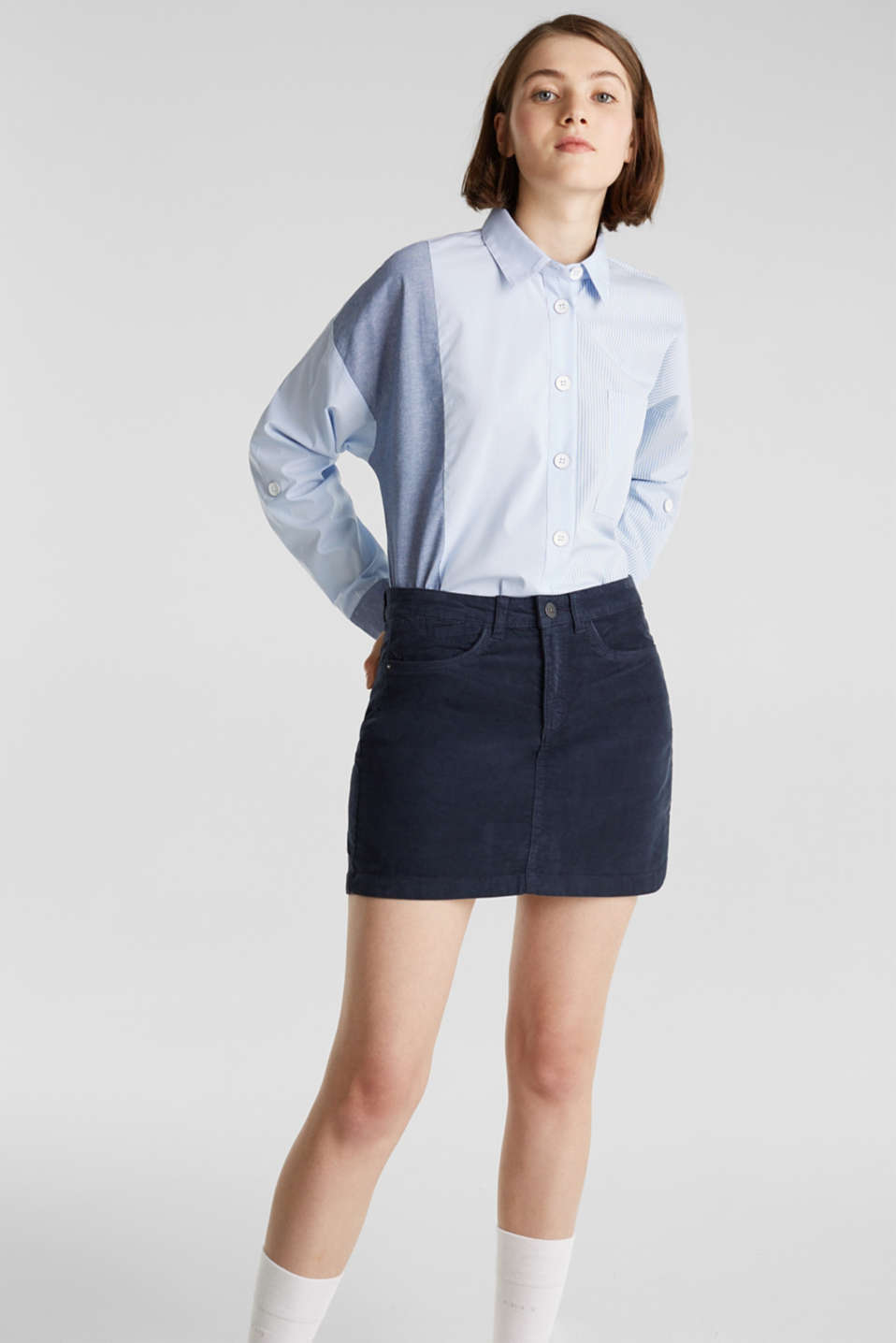 edc - Stretch corduroy mini skirt
