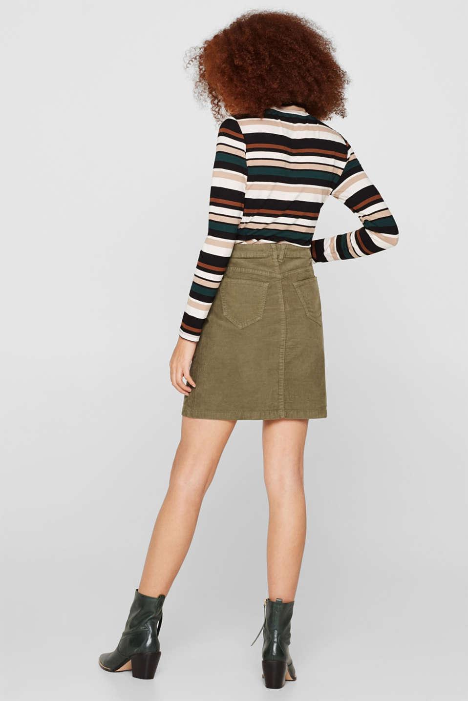 Skirts woven, KHAKI GREEN, detail image number 3