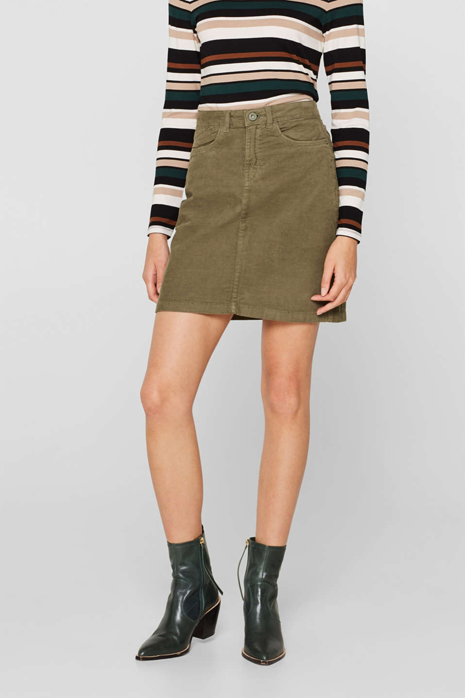 Skirts woven, KHAKI GREEN, detail image number 6