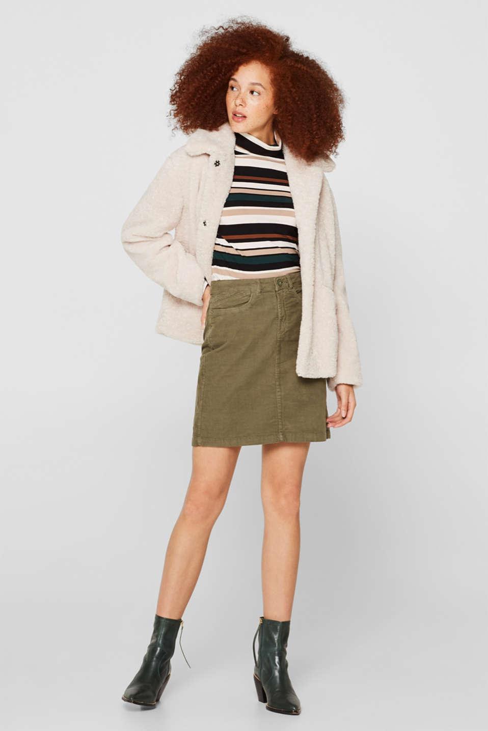 Skirts woven, KHAKI GREEN, detail image number 1