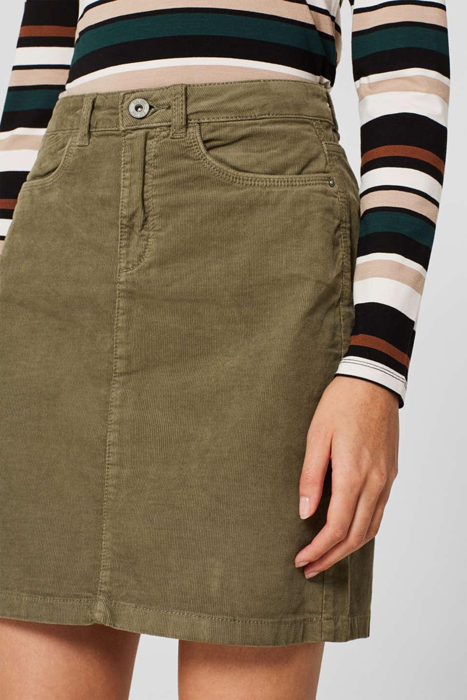 Skirts woven, KHAKI GREEN, detail image number 2