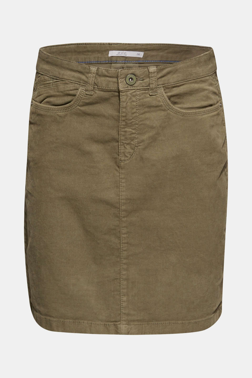 Skirts woven, KHAKI GREEN, detail image number 7