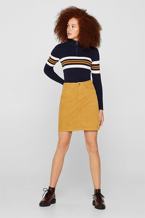 Fine needlecord skirt made of stretch cotton