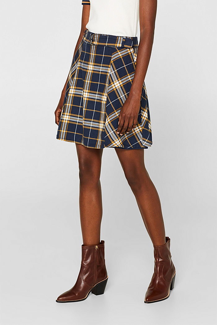 Flared skirt, 100% cotton