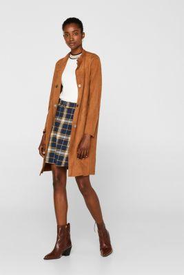 Flared skirt, 100% cotton, NAVY, detail