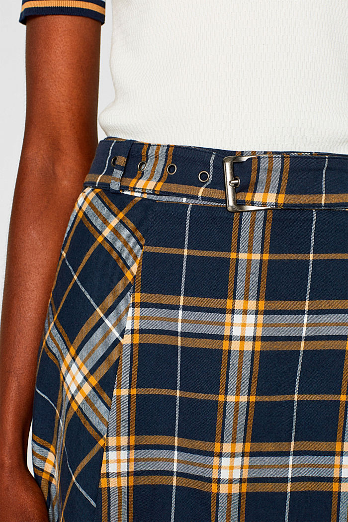 Flared skirt, 100% cotton, NAVY, detail image number 2
