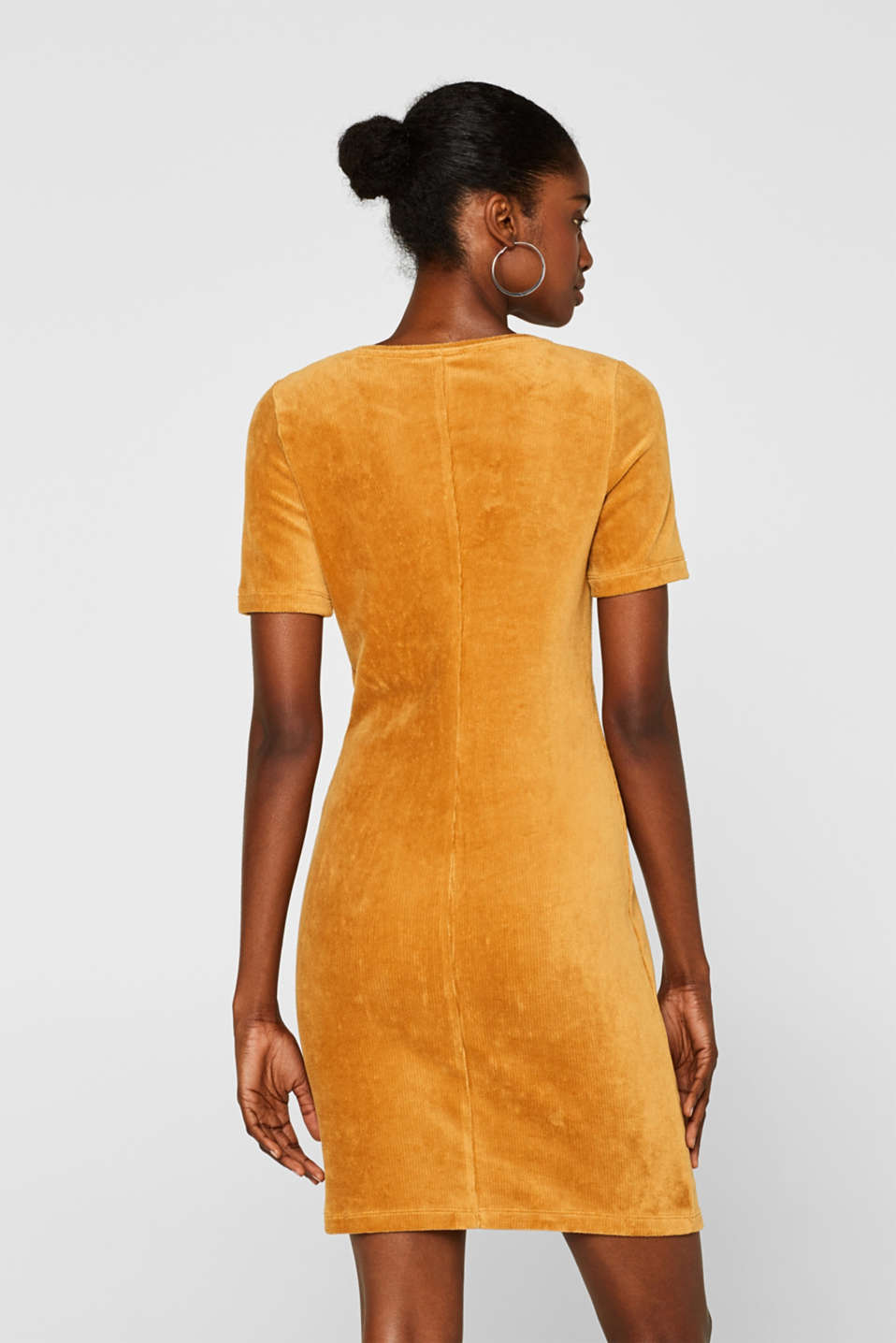Jersey cord sheath dress, AMBER YELLOW, detail image number 2