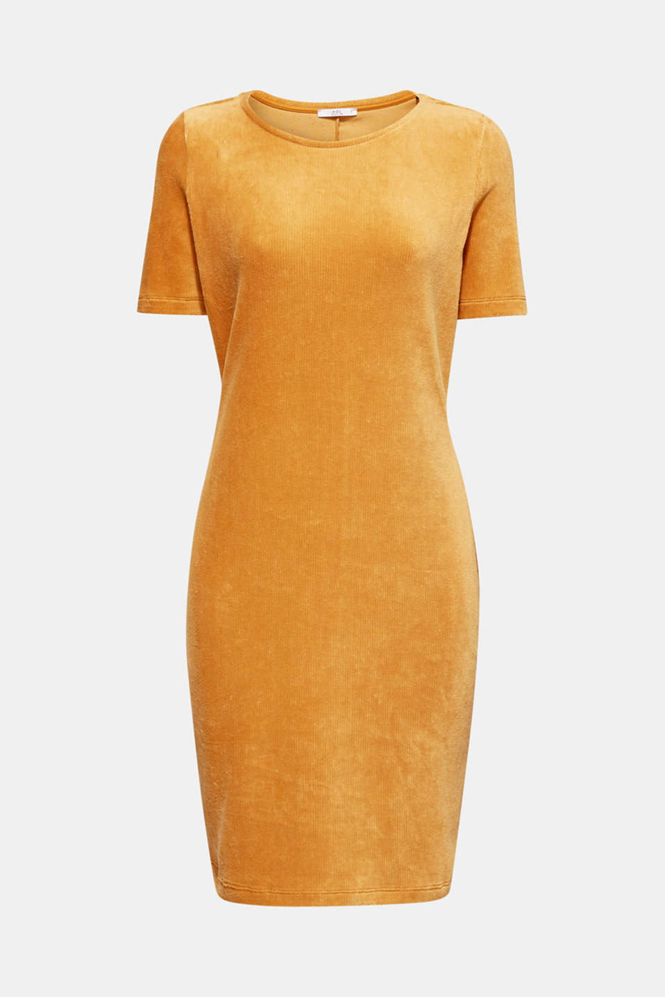 Jersey cord sheath dress, AMBER YELLOW, detail image number 7