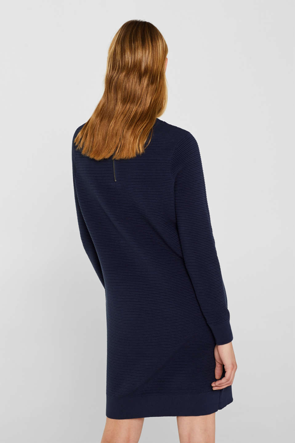 Knit dress with a ribbed texture, NAVY 2, detail image number 2