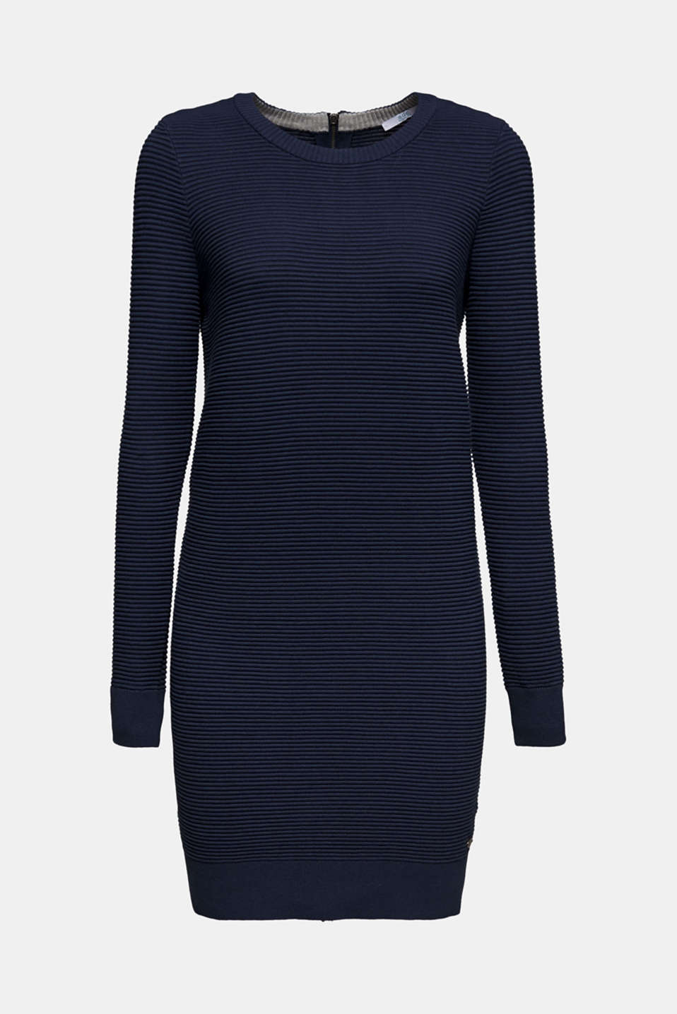 Knit dress with a ribbed texture, NAVY 2, detail image number 5