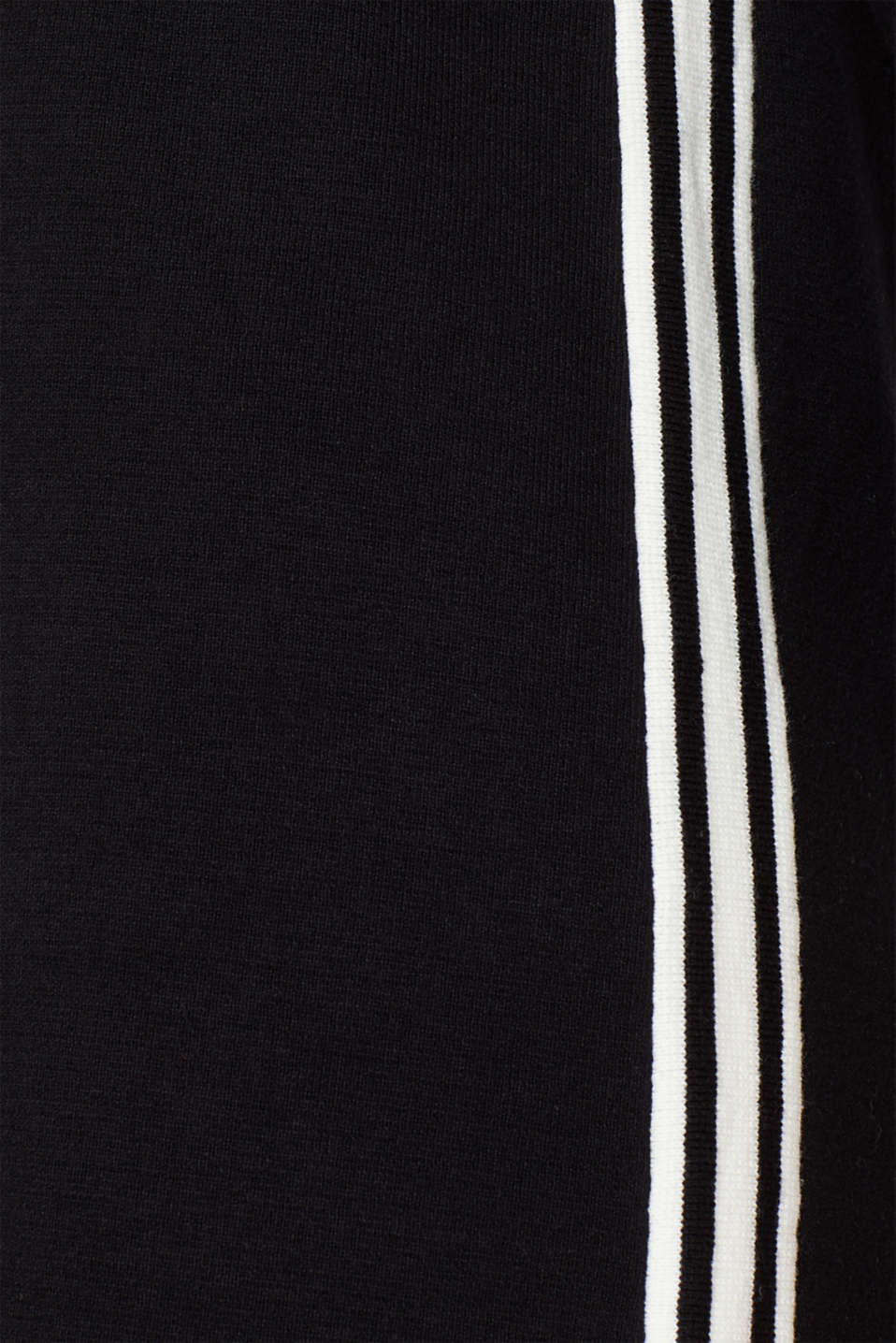 Polo knit dress with racing stripes, BLACK 2, detail image number 4