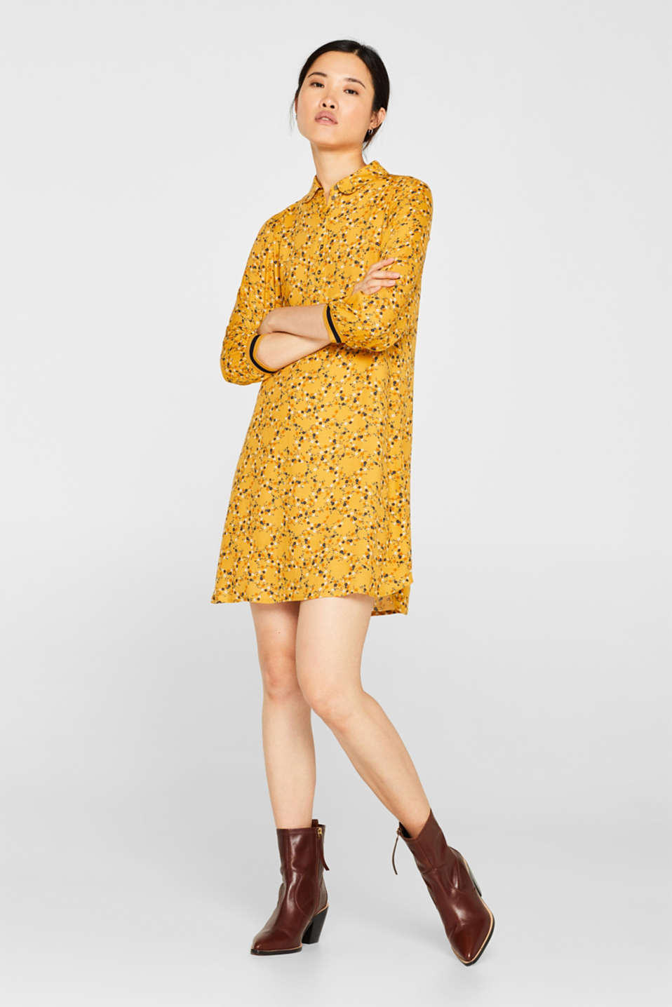 Dresses light woven, HONEY YELLOW, detail image number 1