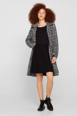 Knit dress with a ribbed texture, BLACK, detail