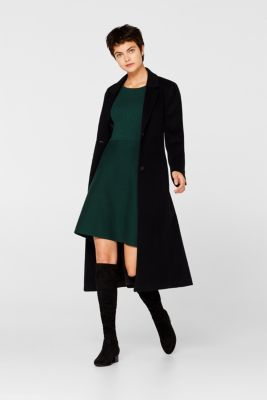 Knit dress with a ribbed texture, BOTTLE GREEN, detail