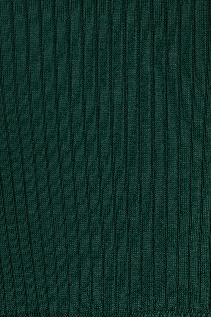 Knit dress with a ribbed texture, BOTTLE GREEN, detail image number 4