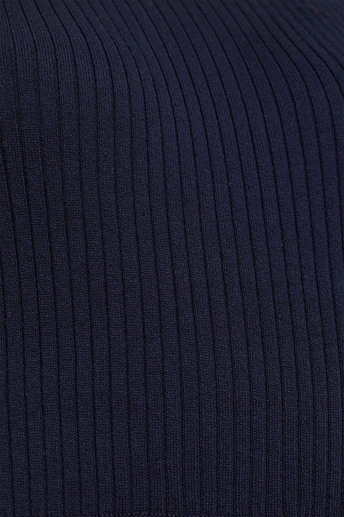 Knit dress with a ribbed texture, NAVY, detail image number 4