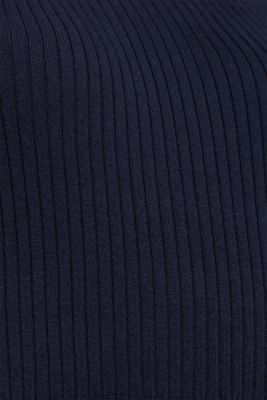 Knit dress with a ribbed texture, NAVY, detail