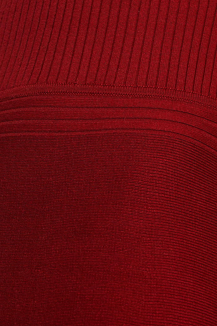 Knit dress with a ribbed texture, TERRACOTTA, detail image number 4