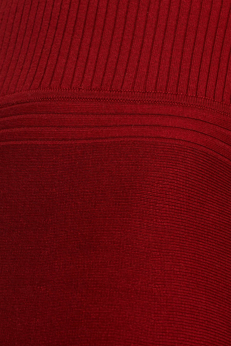 Knit dress with a ribbed texture, TERRACOTTA 5, detail image number 4
