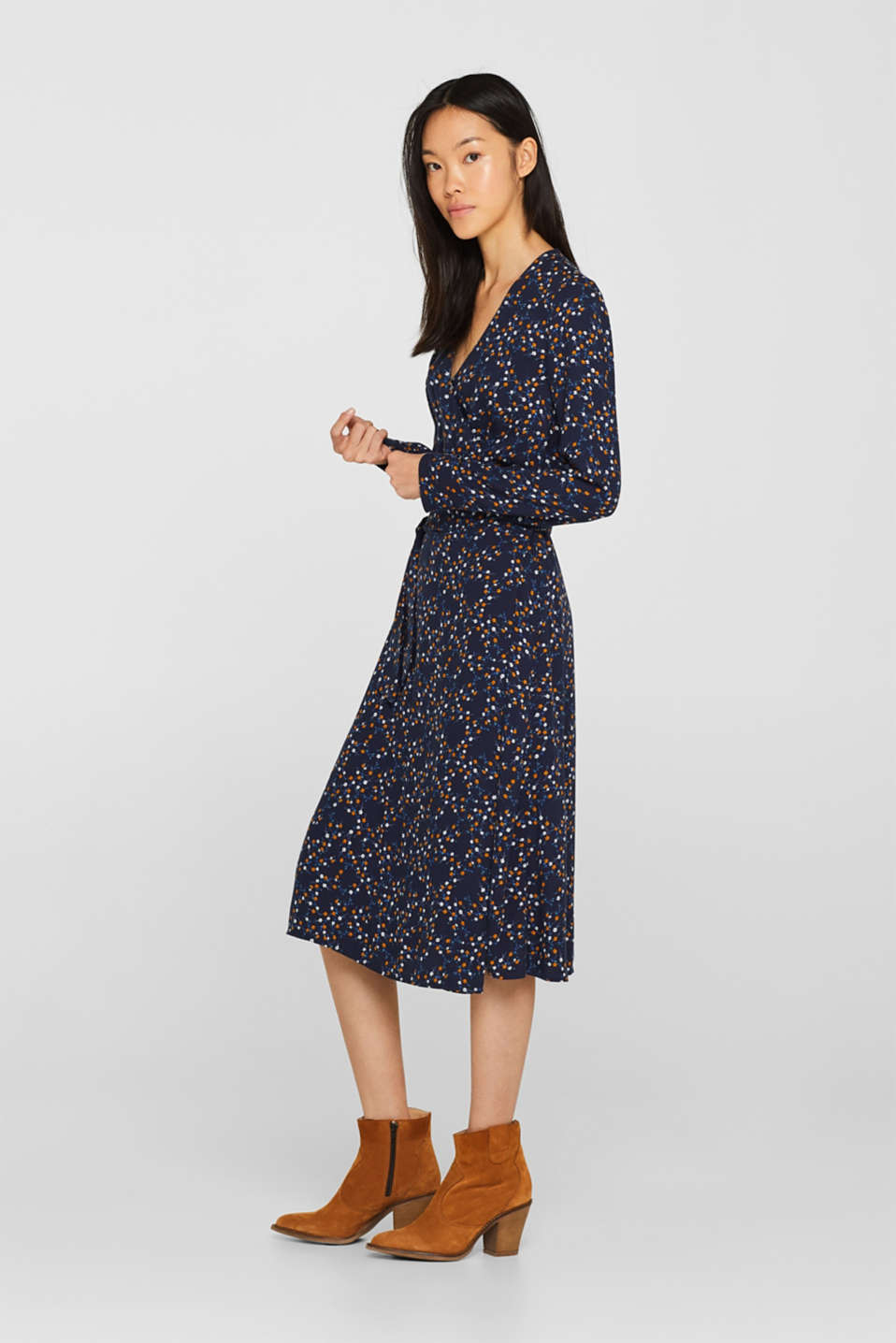 edc - Midi length wrap dress