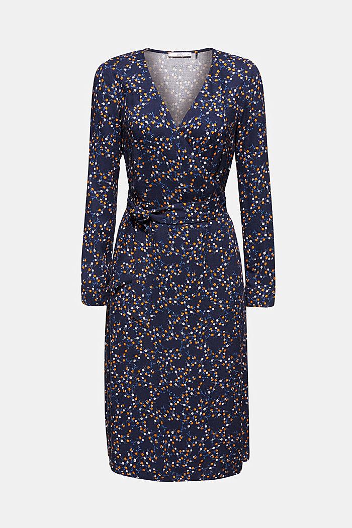 Midi length wrap dress