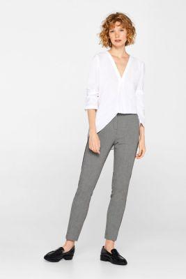 Chambray blouse, 100% cotton, WHITE, detail