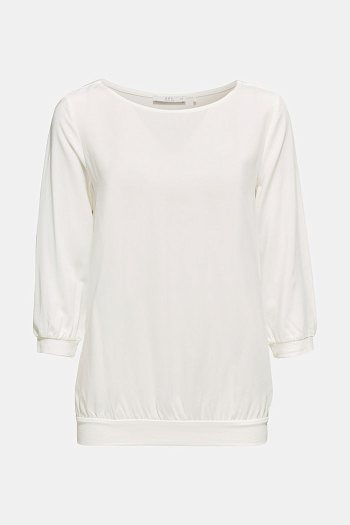 Blouse made of a material mix, OFF WHITE, detail image number 6