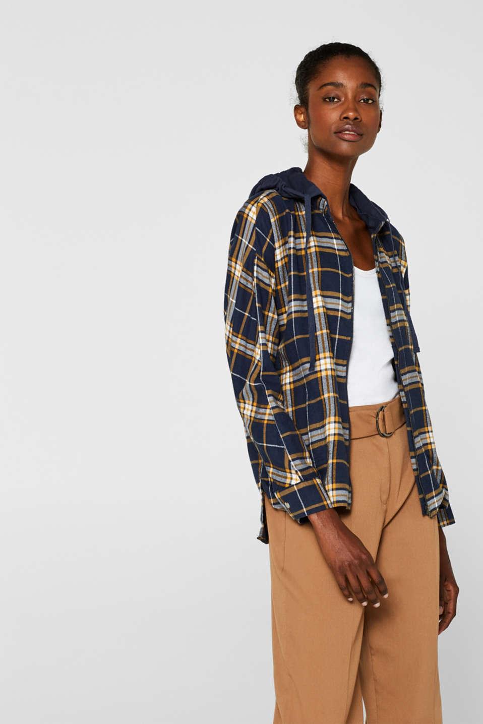 edc Koszula z odpinanym kapturem, 100% bawełny w naszym  x212r