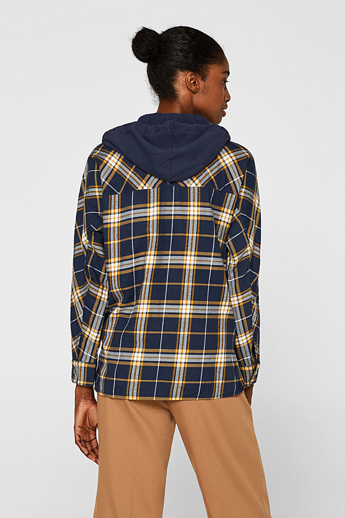 Top with an adjustable hood, 100% cotton, NAVY, detail image number 3