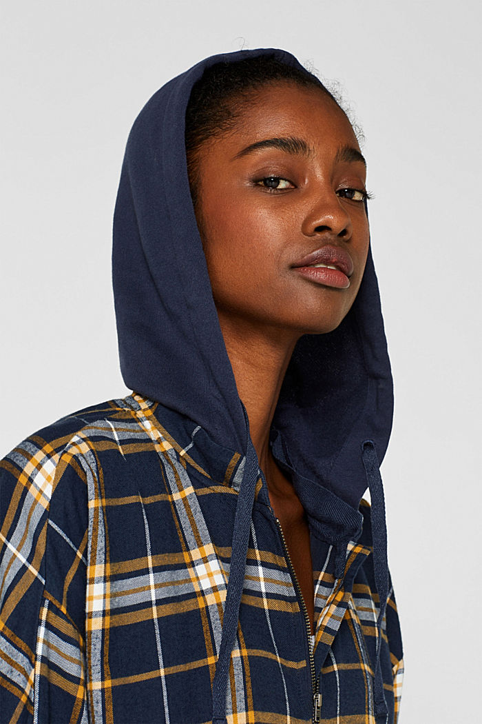 Top with an adjustable hood, 100% cotton, NAVY, detail image number 8