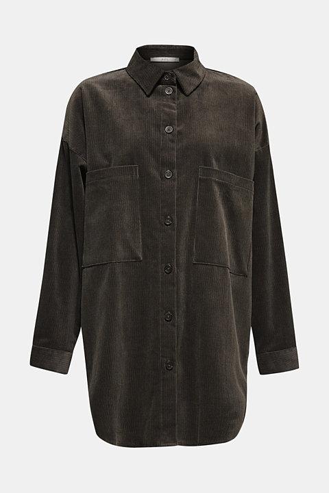 Oversized corduroy blouse