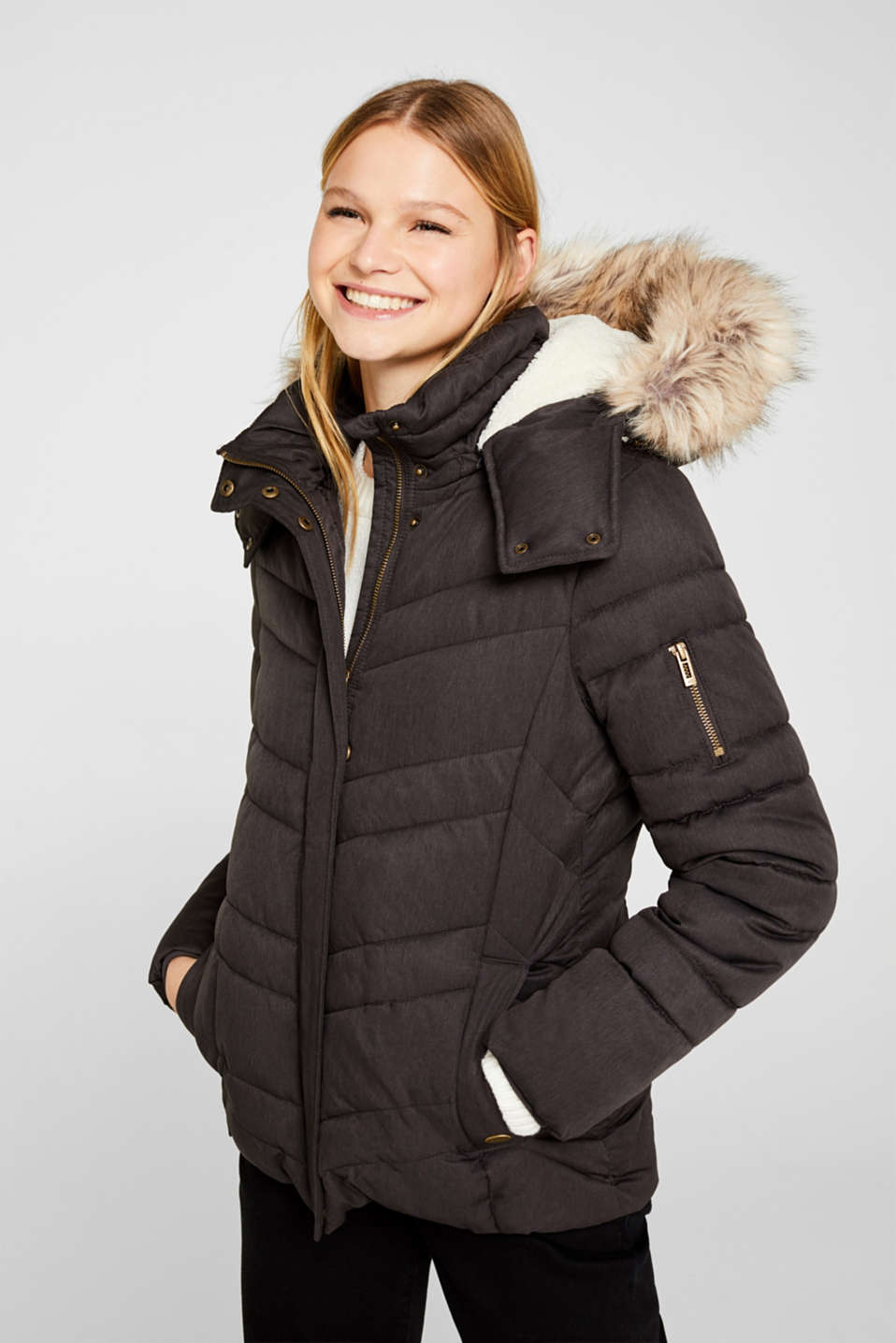 edc - Quilted jacket with 3M® Thinsulate® technology