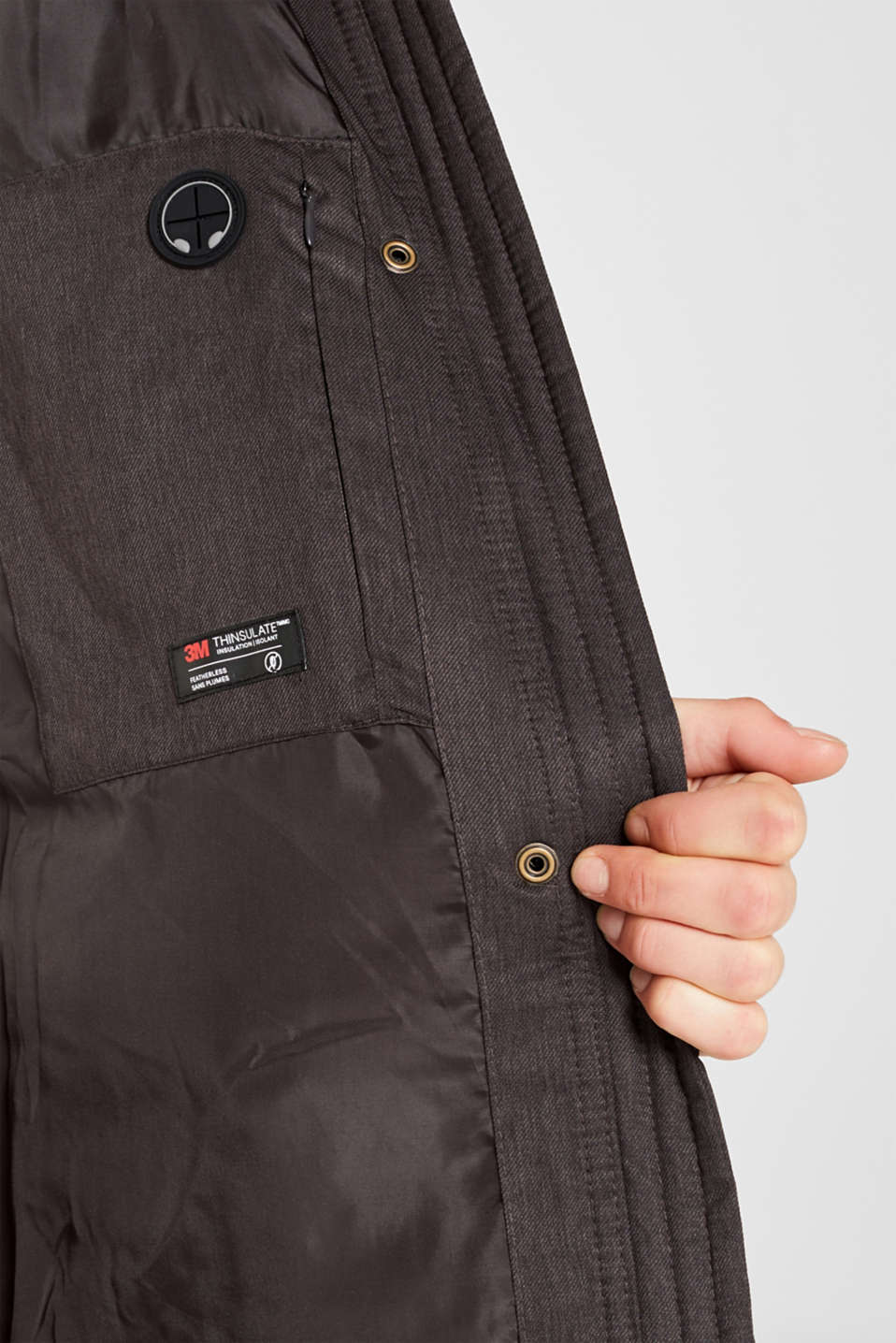 Jackets outdoor woven, ANTHRACITE 5, detail image number 2