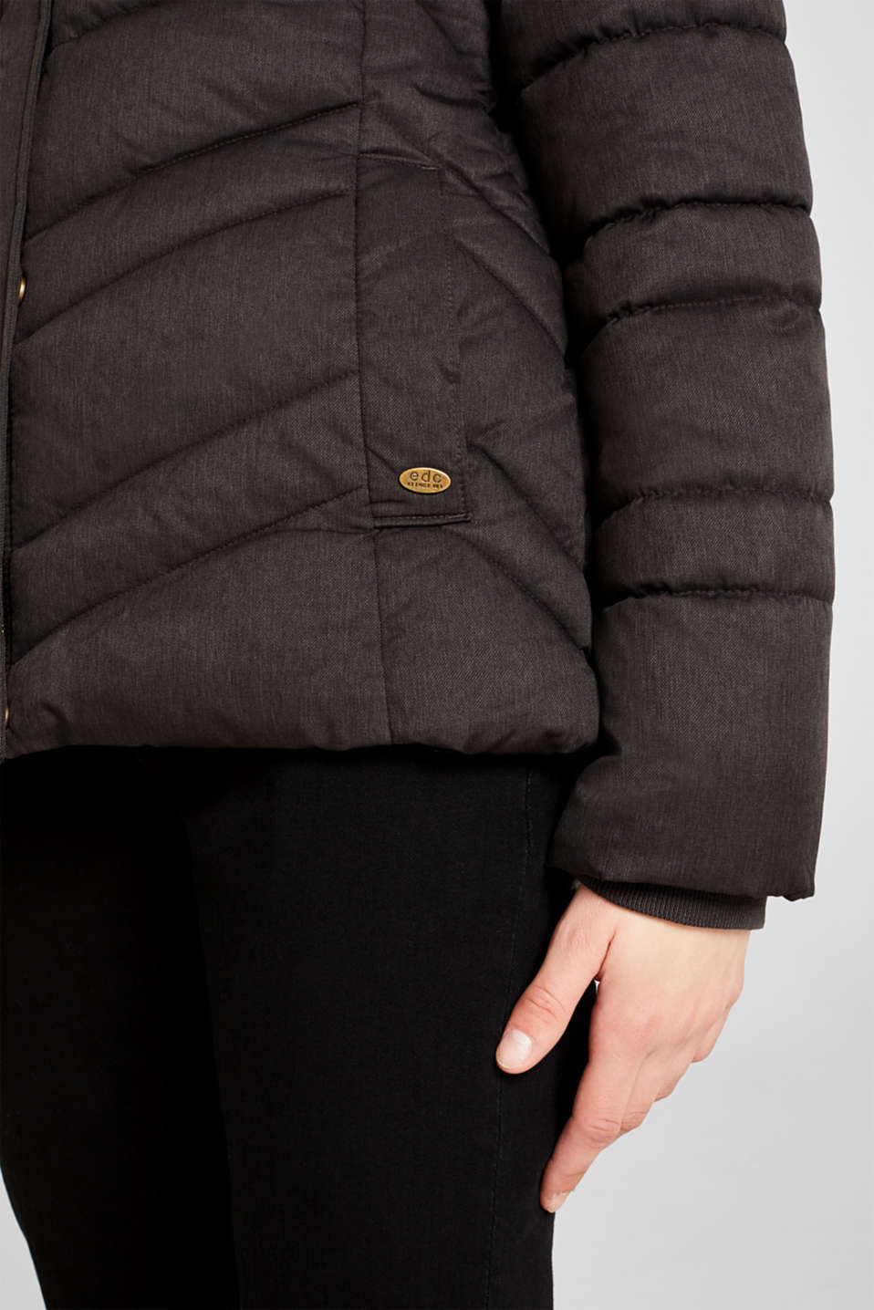 Jackets outdoor woven, ANTHRACITE 5, detail image number 6