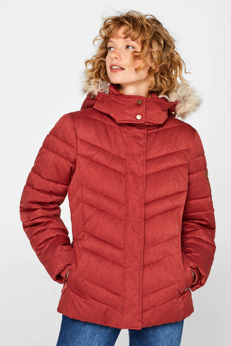 Jackets outdoor woven, DARK RED 5, detail image number 0