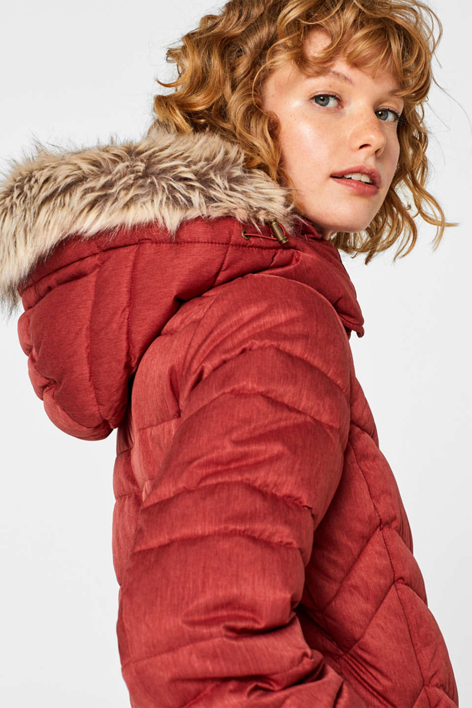 Jackets outdoor woven, DARK RED 5, detail image number 2